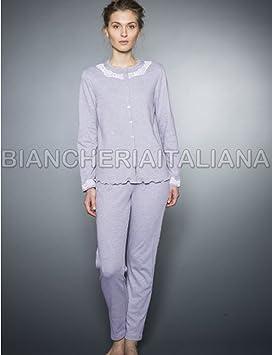 Elegance pijamas, diseño de Spiderman para mujer invierno con Chaqueta reversible para abbottonata de algodón