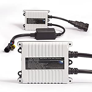 "55w Kensun HID Xenon Conversion Kit ""All Bulb Sizes and Colors"" with Digital Ballasts - 9006 (HB4) - 6000k"