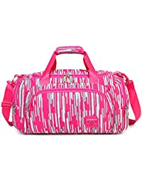 AOKE 23L Stylish Duffel Luggage Weekender Bag for Girl 2017 New Rose Candy Color