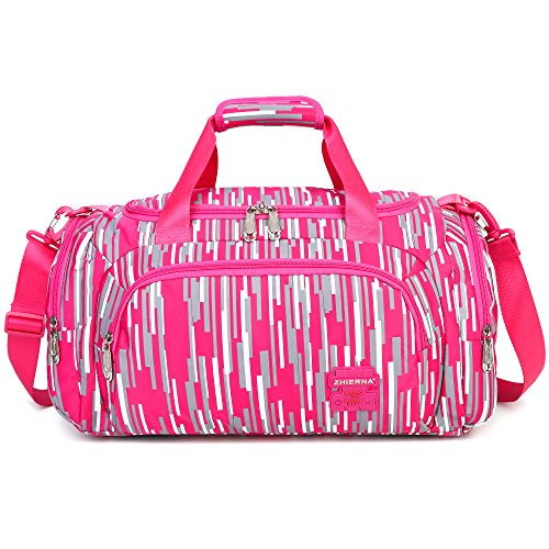 AOKE 23L Stylish Duffle Luggage Weekender Bag for Girl 2017 New Rose Candy Color