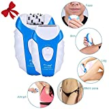 Epilation Laser Le Havre - Hair Epilator, CHAINER 5 in 1 Rechargeable Hair Removal Kit Electric Cordless Lady Shaver Bikini Trimmer Wet and Dry with 5 Extra Heads for Feet and Hair Care (Blue)