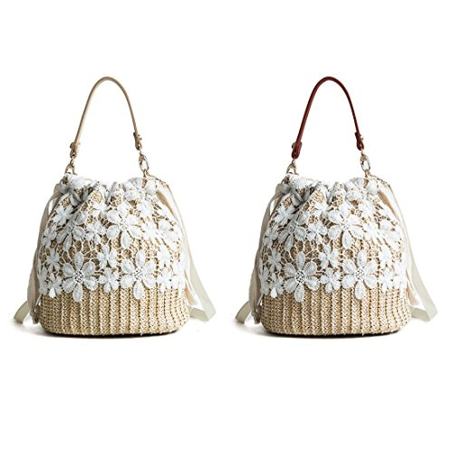 A Propre Kaki Toogoo Pour Simple Nouveau Paille Mode Filles De Seau En Sac Dentelle Marron Litteraire Bandouliere Sauvage 4PvUw4