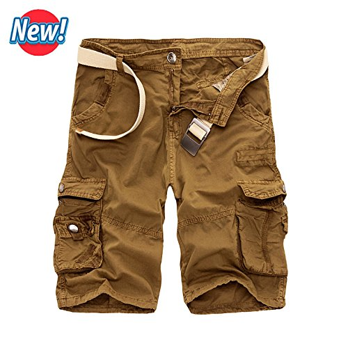 New NEW Men Cargo Shorts Casual Loose Short Pants Camouflage Military Summer Style Knee Length Plus Size 10 Colors Shorts (Morph Suit Sizing)