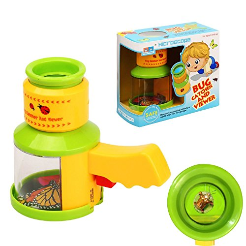 AlleTechPlus Bug Catcher and Viewer Microscope for kids, Nature Exploration Toys Insect Magnifier Backyard Explorer for Children by AlleTechPlus