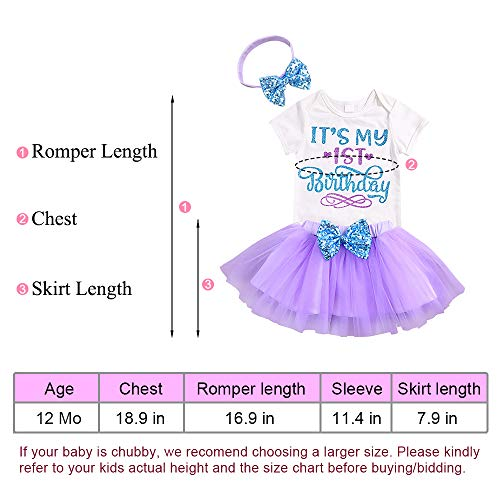 b029c581f Jual Newborn Baby Girls It s My 1st Birthday Dress Infant Shiny ...