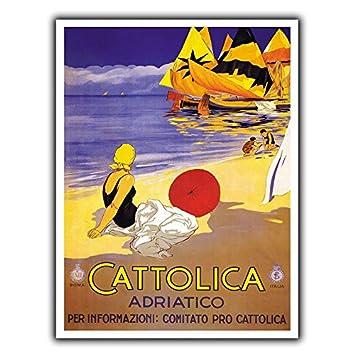 Cattolica Italia - Placa metálica de Metal para Cartel ...