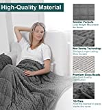 Sherpa Fleece Weighted Blanket for Adult 15 lbs