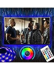 Ruban LED, UBEGOOD LED Rétroéclairage de TV Strip Light Multicolore Ruban LED 2M Etanche Guirlande Lumineuse Décorative Flexible Lumineux Bande LED Lumineuse avec Télécommande