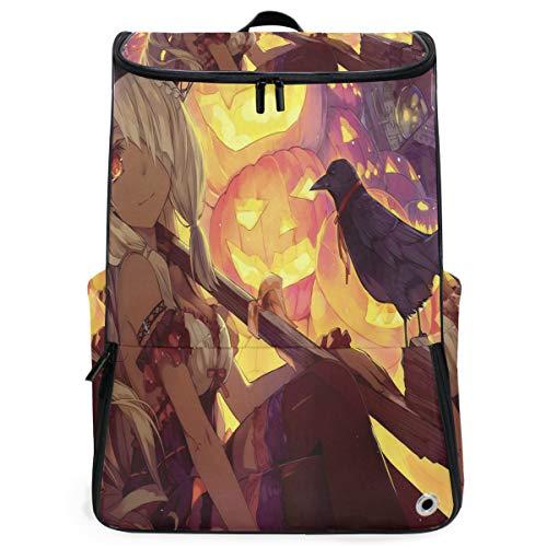 Travel Backpack Inspiring Anime Halloween Wallpaper Gym Backpack for Women Large 3D Bag -