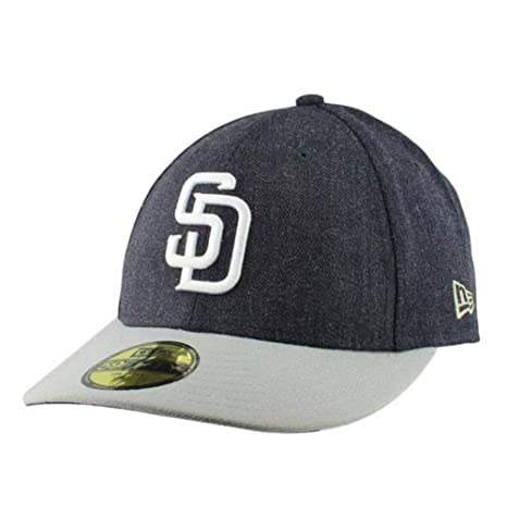 Image Unavailable. Image not available for. Color  San Diego Padres Low  Profile Fitted Size 7 3 8 Hat Cap ... 460607618757