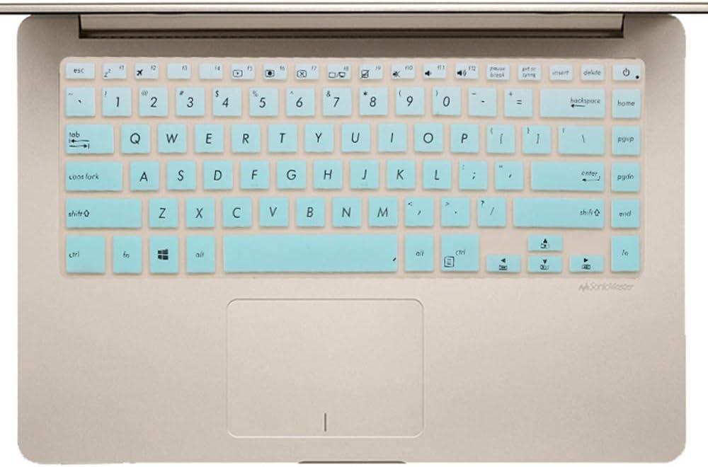 "Keyboard Cover Skin Design for ASUS VivoBook F510UA S510(UA/UQ) 15.6''  ASUS VivoBook 15 X 510UQ X505BA 15.6''  ASUS ZenBook Pro UX550 UX580 15.6""  ASUS VivoBook S510 14"" (Mint Green)"