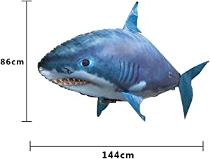 NOLIMITS Remote Control Shark Toys Air Swimming Fish Infrared Flying Clown Fish Kid Toys Gifts Party Decoration Drop Ship