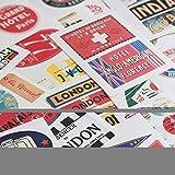 Cavallini Decorative Stickers DesTinations, Assorted