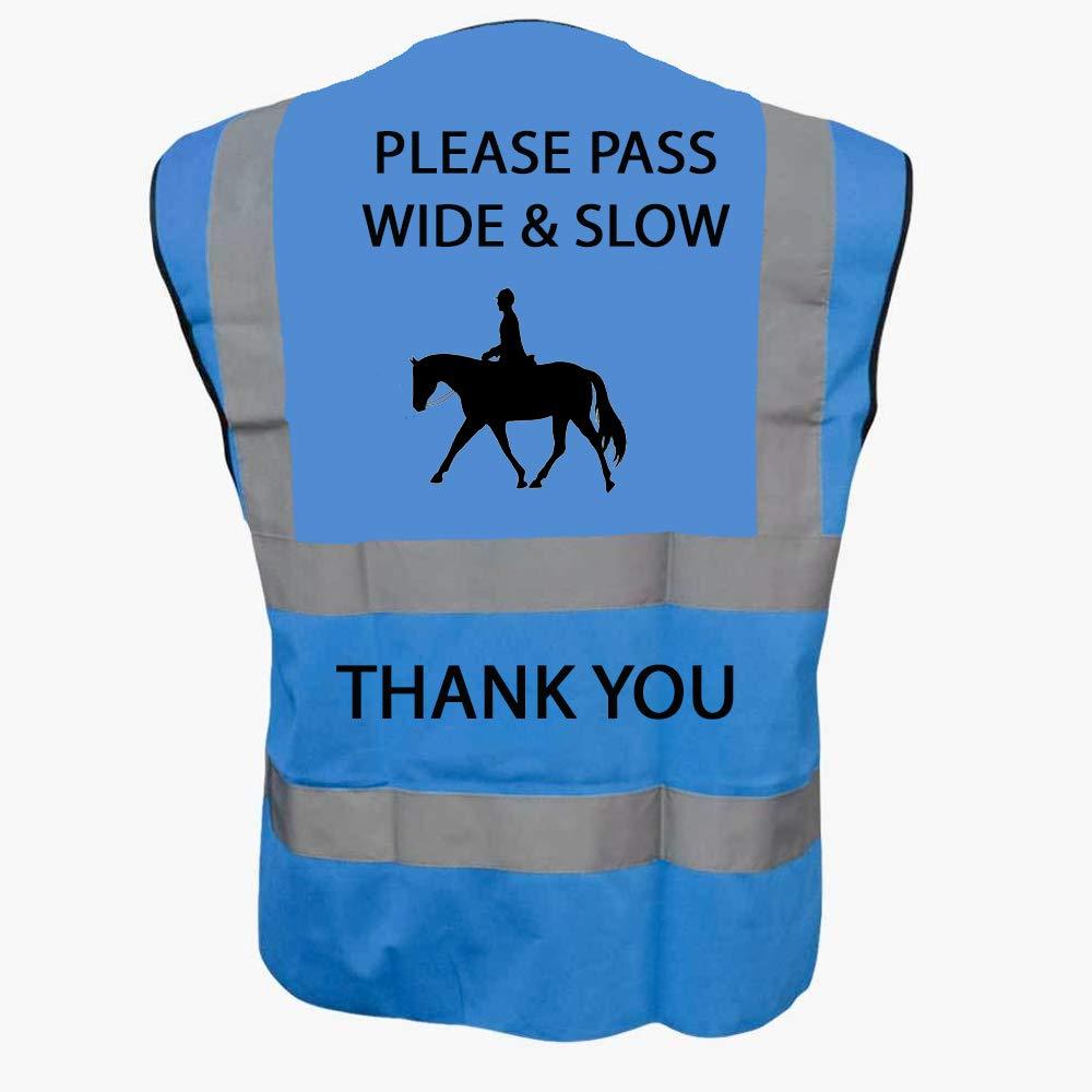 Adult M 40//42, Yellow Hi Vis Viz High Visibility Reflective Vest Horse Riding Equestrian Safety Vest