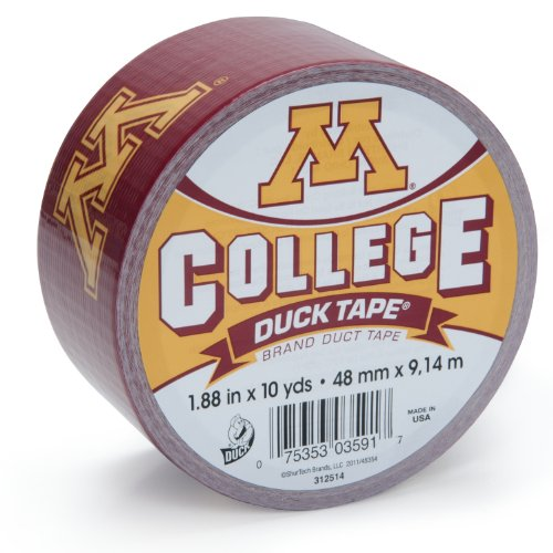 Duck Brand 240291 University of Minnesota College Logo Duct Tape, 1.88-Inch by 10 Yards, Single Roll (Minnesota Gopher Tailgating)