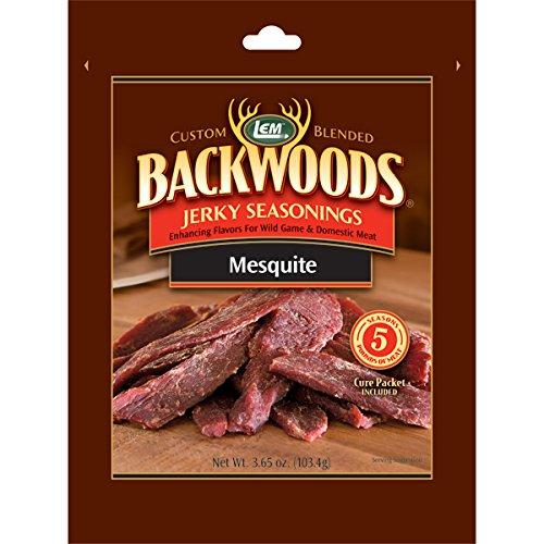 LEM Custom Blended BACKWOODS Jerky Seasonings for 5# of Meat MESQUITE Mesquite Jerky Seasoning