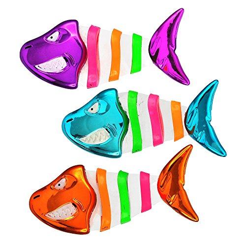 Aqua Fish Bones Dive Sticks, 3 Piece Set, Dive & Retrieve, Bright Colored, Pool and Bathtub Toy, Ages 5 and (Outdoor Dive)