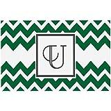 Kess InHouse KESS Original 'Monogram Chevron Green Letter U' Decorative Doormat, 24 by 36-Inch discount price 2017