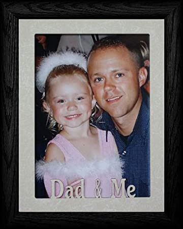 Amazoncom 5x7 Jumbo Dad Me Portrait Picture Frame Holds A