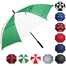 BAGAIL Golf Umbrella 62 Inch Large Oversize Double Canopy Vented Windproof Waterproof Automatic Open Stick Umbrellas For Men and Women