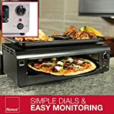 Ronco Pizza and More, Pizza Oven with Warming Tray, Countertop Open-Air Convection Oven, Cooks 40% Faster, Party Convection Oven, Automatic Shut-Off Timer, Includes Warming Tray and Non-Stick Pan, Dishwasher Safe Accessories