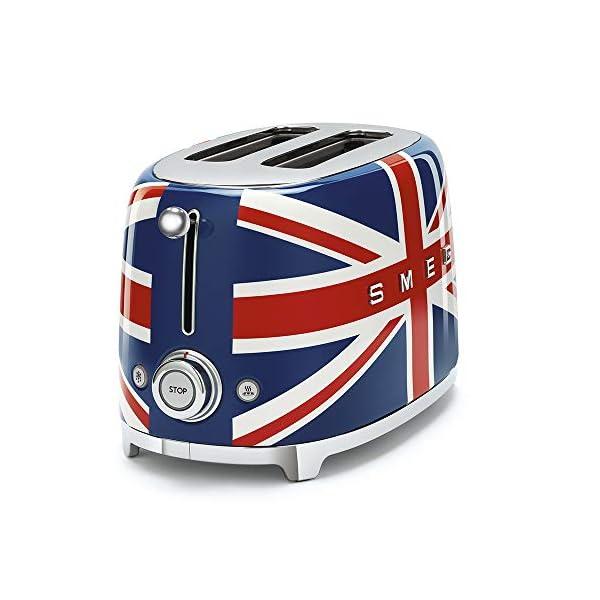 Smeg 1950's Retro Style Aesthetic 2 Slice Toaster, Union Jack Design (British Flag) 2
