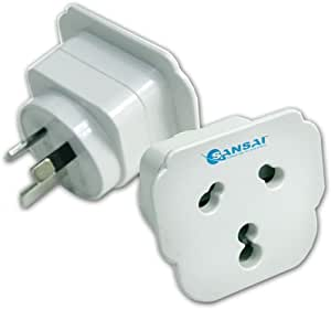 Sansai Travel Power Adapter Outlet India/South Africa Sockets to AU/NZ Plug