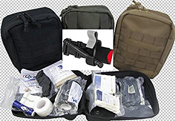 First Aid Kit by Spec Operator Military IFAK and CAT Tourniquet Combination  (Tan)