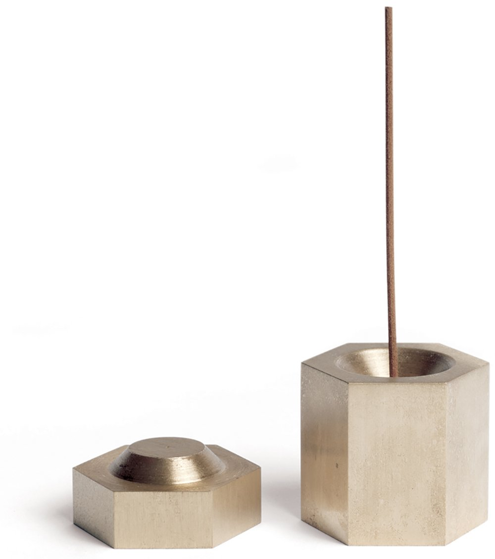 Page Thirty Three - Solid Brass Hexagon Incense Burner
