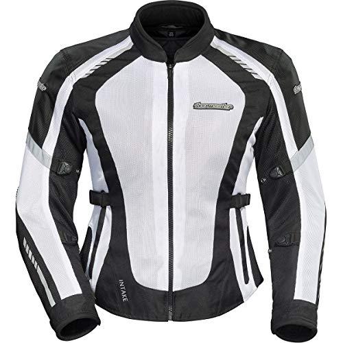 Tour Master Intake Air 5 Women's Street Motorcycle Jackets - Black/White/Small