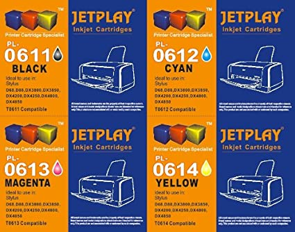 Unidades de 1 JETPLAY T611 T612 T613 T614 (t615) Cian cartucho de ...