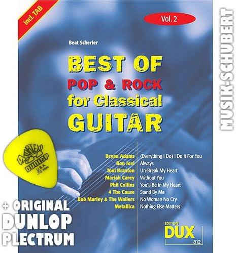 Best of Rock y Pop for para guitarra clásica Vol, 2 Púa: Amazon.es ...