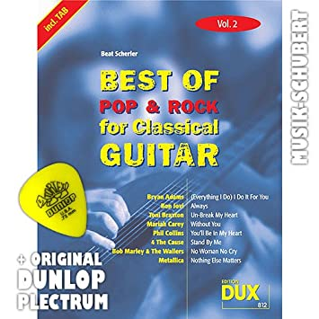 Best of Rock y Pop for para guitarra clásica Vol, 2 Púa: Amazon.es ...