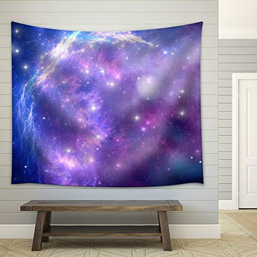 Purple Space Nebula Fabric Wall