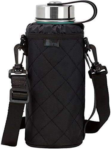 Walks Hydro (MIRA Water Bottle Carrier for 32 oz Wide Mouth Vacuum Insulated Stainless Steel Bottles | Fits, Hydro Flask, Camelbak, Takeya and other Wide Mouth Bottles | Ballistic Nylon)