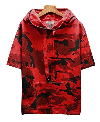 うがい薬データお父さんHAPPYJP 迷彩 半袖 メンズ tシャツ カモフラ 半袖 パーカー カジュアル M~XXXL