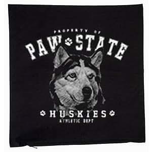Husky siberiano Perros Mascotas 40x 40cm almohada en negro