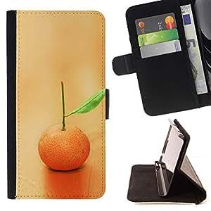 Momo Phone Case / Flip Funda de Cuero Case Cover - Macro de la fruta de Lonely Naranja - Sony Xperia M4 Aqua
