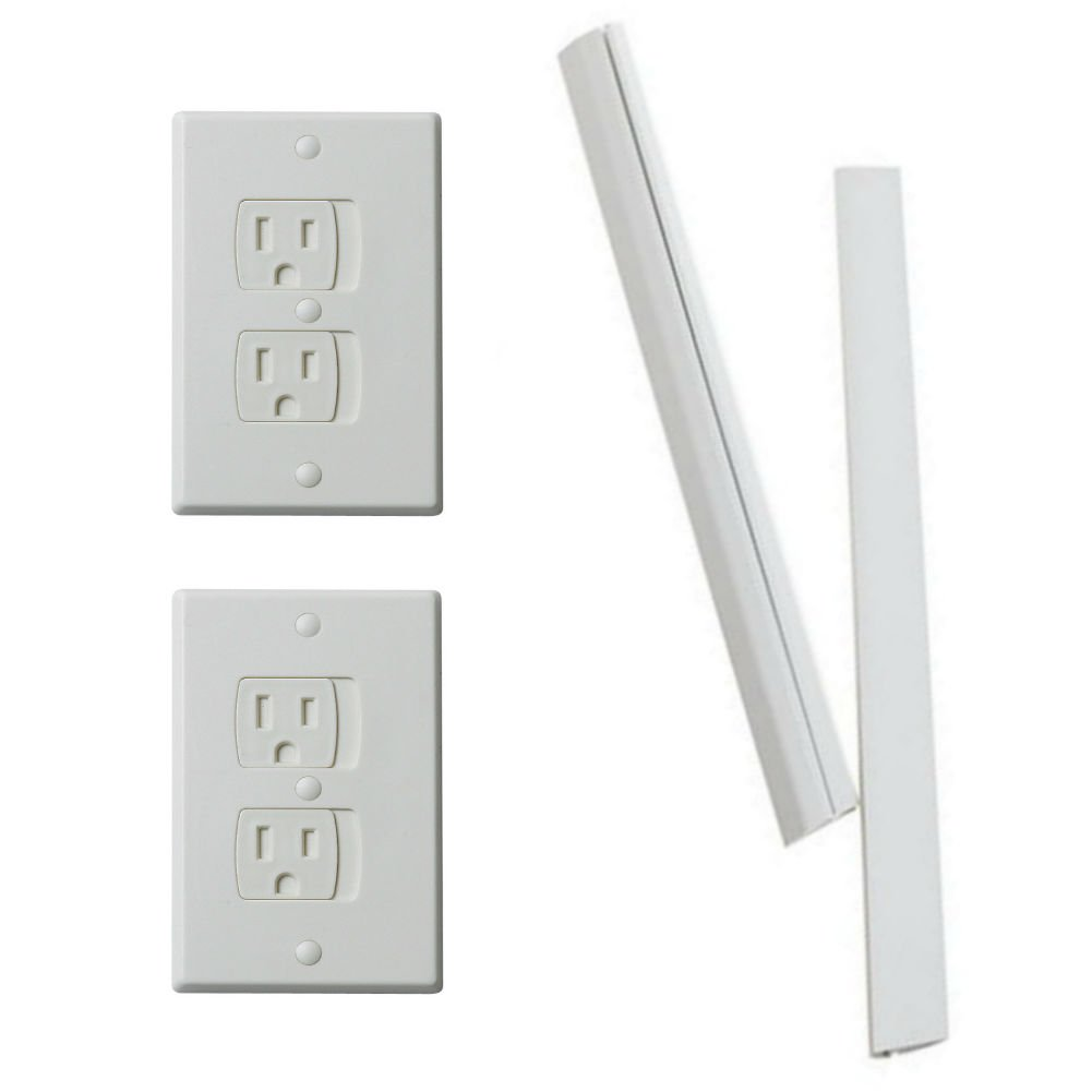 ELECTRICAL SAFETY BUNDLE: Parent Units Outlet Guard - 2 Pack, and Wire Guard