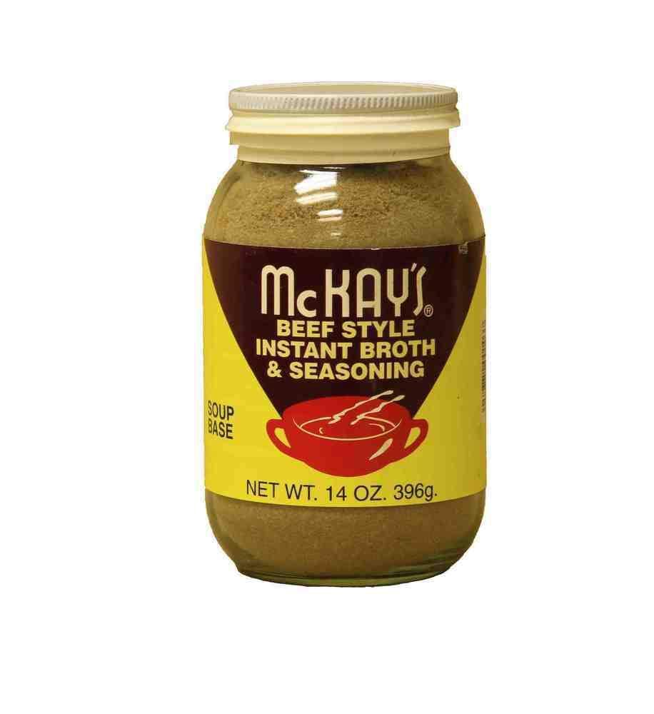 McKay's Vegetarian Beef Style Instant Broth and Seasoning -Regular - 14 Oz