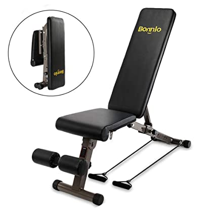 Amazing Bonnlo Upgraded Adjustable Bench Folding Weight Bench Press For Body Workout Fitness 660 Lbs Capacity Workout Bench For Incline Decline Flat Creativecarmelina Interior Chair Design Creativecarmelinacom