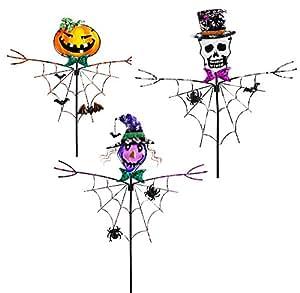 Spooky Halloween Garden Stakes Set of 3