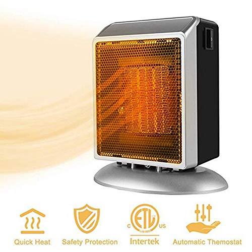 Fan Heaters Calefactor JFW-Space, Mini Calefactor eléctrico para el hogar y la Oficina Calefactor cerámico pequeño con...