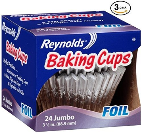 Reynolds Baking Cups, Foil, Jumbo, 3 1/2 In (3 Pack- 72 Count) ()