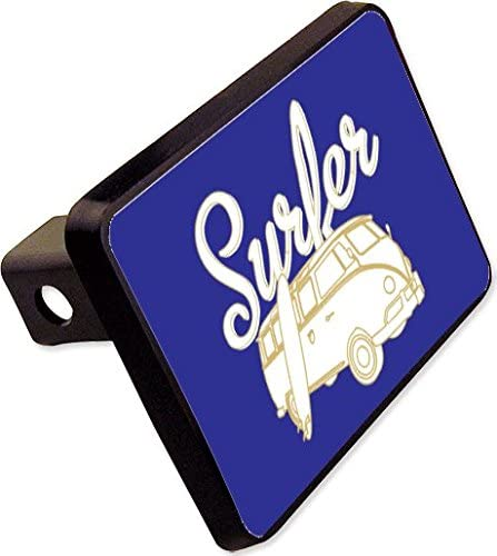 Surfer Dude Trailer Hitch Cover Plug Funny Beach Surfing Novelty