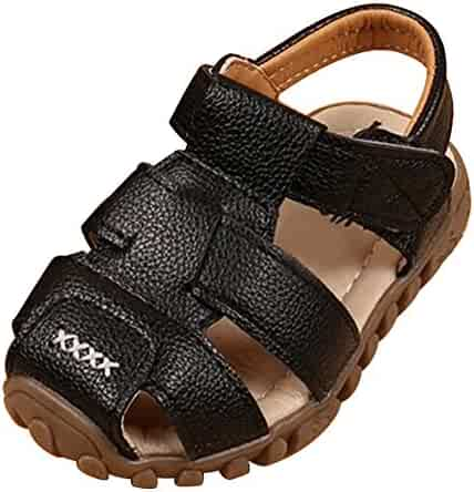 9697241be6d uirend Fisherman Sandals for Boys Girls - Summer Beach Shoes Athletic  Leather Closed-Toe Flat