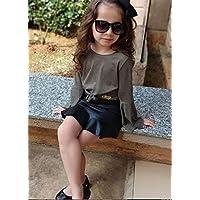 Saia Infantil Com Babado Godê Cirre Moda Blogueira