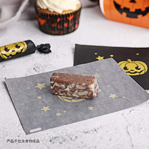 JUSTDOLIFE Ornament 400PCS Halloween Candy Wrapper Pumpkin Candy Wrapping Paper Chocolate Wrapper ()