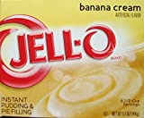 Jell-O Banana Cream Instant Pudding & Pie Filling, 5.1 oz (4-Packs)