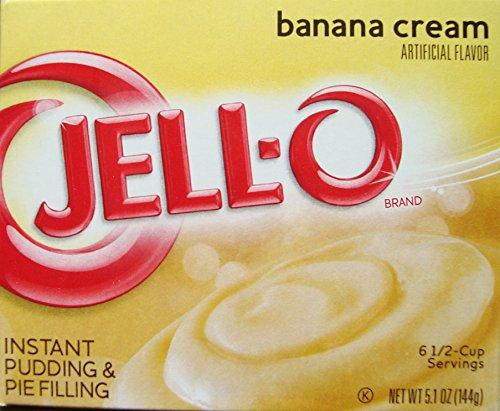 Banana Cream Pie Pudding (Jell-O Banana Cream Instant Pudding & Pie Filling, 5.1 oz (4-Packs))